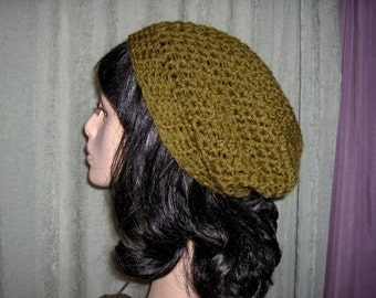 Women Slouchy Hat Tam Women Hat Boho Crochet Hat Knit Dreads Slouchy Tam