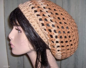 Womens Mens Slouchy Dreads Hat Tam Dreads Hat Crochet Hat Womens Hat