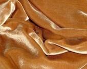 SILK Velvet fabric 28 percent silk 72 percent rayon - ANTIQUE GOLD doll clothes collage fiber arts