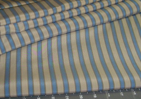 100 percent oh so soft Silk -- Stripes of slate blue and sand