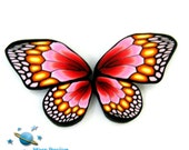 Polymer clay red,pink,orange BUTTERFLY WING canes   -by Mars