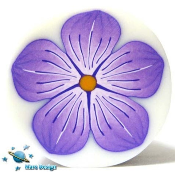 Polymer clay PURPLE FLOWER cane -by Mars