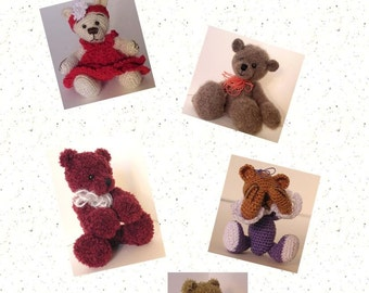 Crochet Pattern - Miniature Thread Crochet Teddy Bear