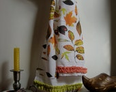 scarf autumn leaves one of a kind long cotton eco friendly