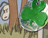 st pattys shamrock Trashion pop art earrings
