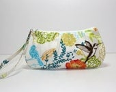 Sweet Pea Zip and Go Wristlet / Birds