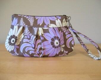 Amy Butler Purple Wristlet