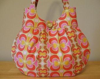 Midwest Modern Tan Garden Maze Handbag