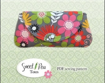 Easy Snap Clutch  ebook  PDF Sewing Pattern / Sweet Pea Totes