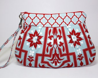 Zip and Go Wristlet /Joel Dewberry Architectural Sky fabric