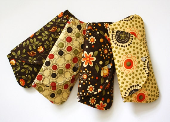 Set of 4 Clutches / Perfect for your Bridesmaids / Autumn Wedding