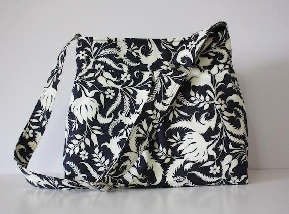 Pleated Hobo Handbag Amy Butler Fabric