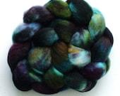 Roving  hand dyed  bfl wool top 3.65 Deep Paua