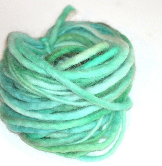 Thick felted cord hand dyed 10yds Water
