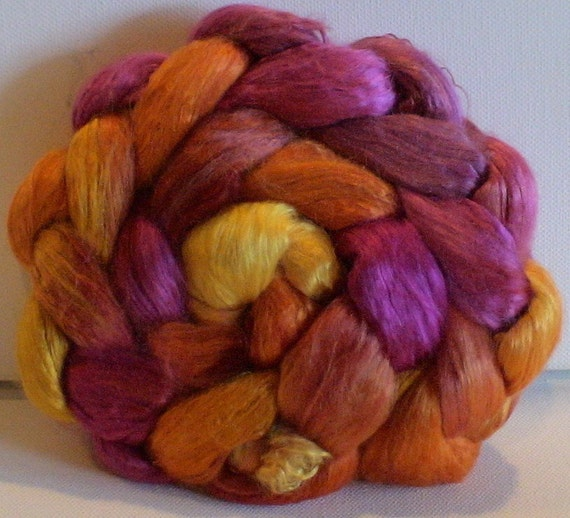 Hand Dyed Mulberry silk half brick 2.35 Mexico
