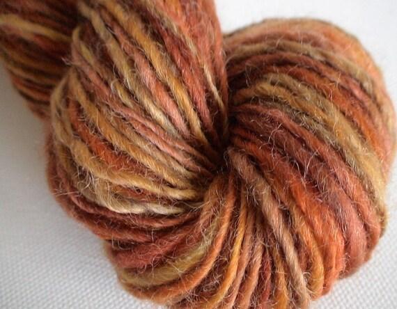 Handspun Yarn Simply Spun New Zealand Romney handspun yarn singles 1.8ozs 106yds app Marmalade