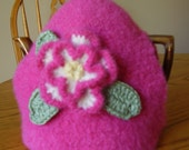 Gorgeous Hot Pink Felted Tea Cozy