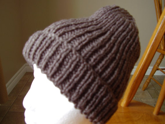 Taupe Coloured  Men or Women Knitted Toque/Hat