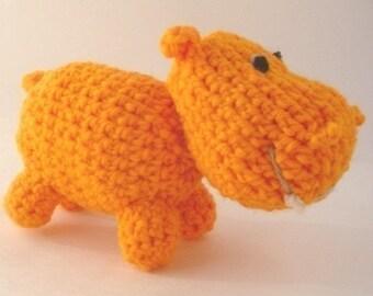 PATTERN PDF Crocheted Happy Hippo Amigurumi Pattern