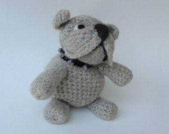 Pattern PDF Crocheted  Bulldog Pattern ..Felted or Not