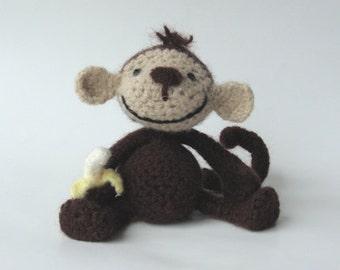 PATTERN ..PDF...Monkey Crochet and Felt Pattern