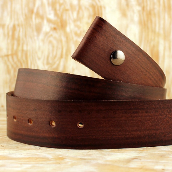 wood grain leather snap belt