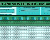 Heart and View Counter -- Track Your Popularity, Marketing Tool