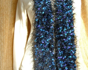 SUPER SALE - Indigo - 66 inch Long Knitted Scarf - FREE SHIPPING