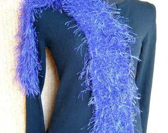 SUPER SALE - Purple Passion - 67 inch Long Knitted Scarf - FREE SHIPPING