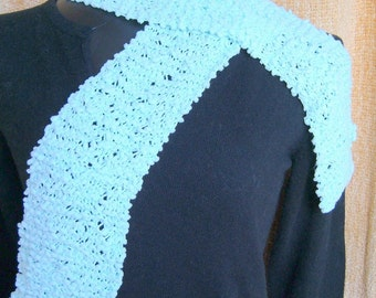 SUPER SALE - Soft Mint - 54 inch Long Knitted Scarf -  FREE SHIPPING