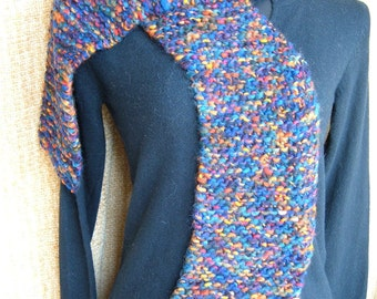 SUPER SALE - Deep Sea - 67 inch Long Knitted Scarf - FREE SHIPPING