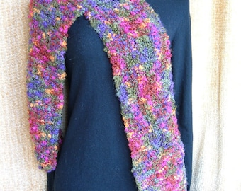 SUPER SALE - Tutti Fruitti - 78 inch Long Knitted Scarf - FREE SHIPPING
