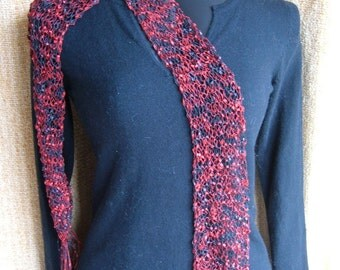 SUPER SALE - Radius Red - 64 inch Long Knitted Scarf - FREE SHIPPING
