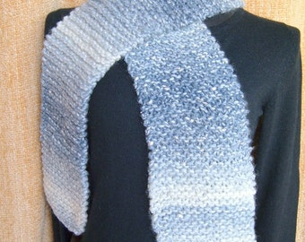 SUPER SALE - Silver Night - 63 inch Long Knitted Scarf - FREE SHIPPING