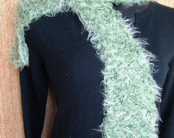 SUPER SALE - Green Moss - 54 inch Long Knitted Scarf - FREE SHIPPING