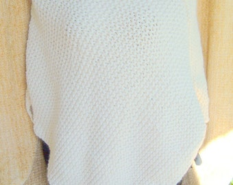 SUPER SALE - Fisherman - 20 inch x 30 inch - Knitted Poncho - FREE SHIPPING