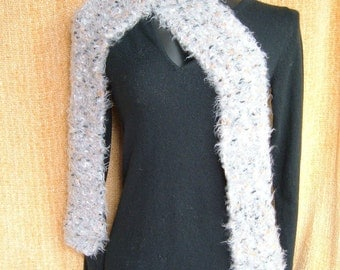 SUPER SALE - Stone - 76 inch Long Knitted Scarf - FREE SHIPPING