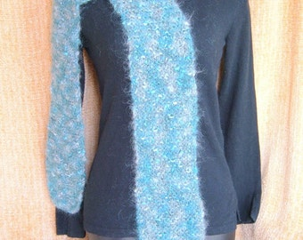 SUPER SALE - Blue Topaz - 85 inch Long Knitted Scarf - FREE SHIPPING
