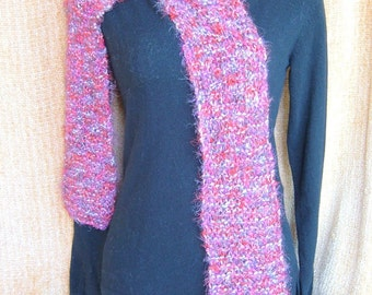 Super Sale - Fire Blaze - 76 inch Long Knitted Scarf - FREE SHIPPING