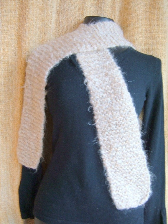 SUPER SALE - Soft Earth - 65 1\/2 inch Long Knitted Scarf - FREE SHIPPING