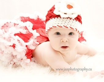 Christmas Toddler Baby Girl Crochet Hat