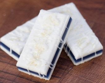 Blueberry Soap, Handmade Soap, Birthday Gift, Blueberries, Cream, Vanilla, Moisturizing Soap, Goats Milk Soap, Mom Gift