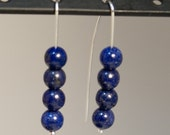 Blue Lapis Lazuli and Sterling Silver Earrings