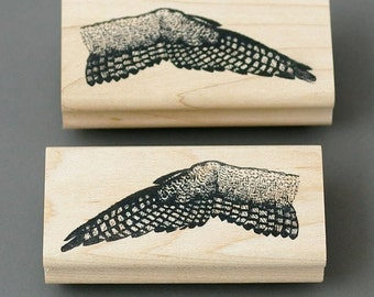 Bird Wings wood mounted rubber stamps