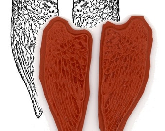 Angel Wings Unmounted rubber stamps
