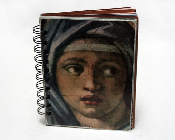 A Work of Art - Wire-Bound Recycled Art Journal
