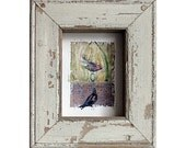 Bird Art - Nest Egg Watching -  The Offering - Birds & Egg Canvas Print - Salvaged Architectural Frame - Nursery - Kids' Room Wall Art