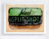 Vintage Tin - Vintage Label Art - Realism - Still Life - Ideal Split Shot  Fishing Sinker - 5x7 Canvas Print - Art Block - Kids'  Wall Art