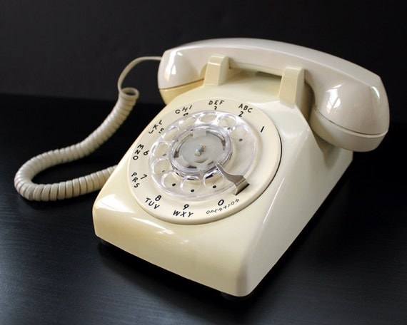 Vintage Dial Telephone SALE Rotary Western Electric by