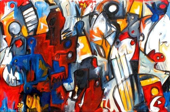 Grinder original Abstract Urban Expressionism
